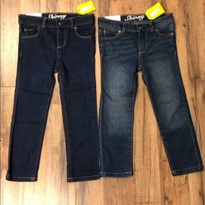 Two Pairs Crazy 8 Girl's Skinny Jeans NWT!